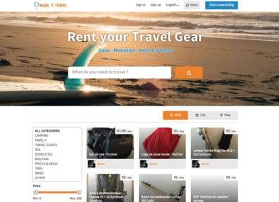 Travel Gear-Sharing Services - This Service Allows Users to Rent Out Their Travel Equipment