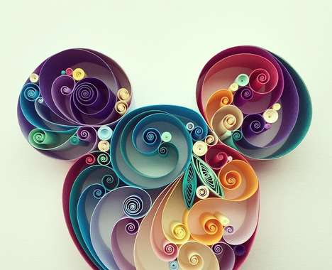 Curved Paper Sculptures