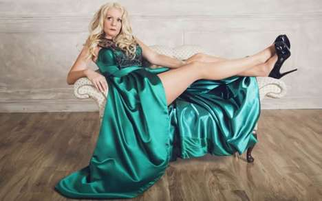 Emerald Divorcee Gowns - Nicolas Aujula Created a Healing Gown Targetted at Divorced Women