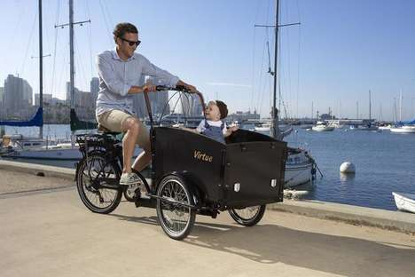 Safety-Conscious Cargo Bikes - This Cargo Bike Features a Handy Front Basket for Storage