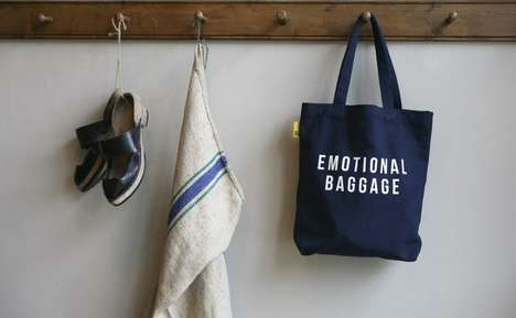Sardonic Book Bags - The 'Emotional Baggage' Tote from the School of Life is Tongue-in-Cheek