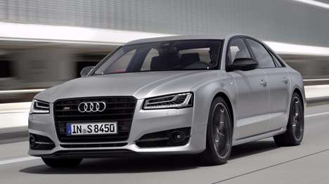 Powerfully Sporty Sedans - The Audi S8 Plus Can Zoom Along at 300 Kilometers Per Hour