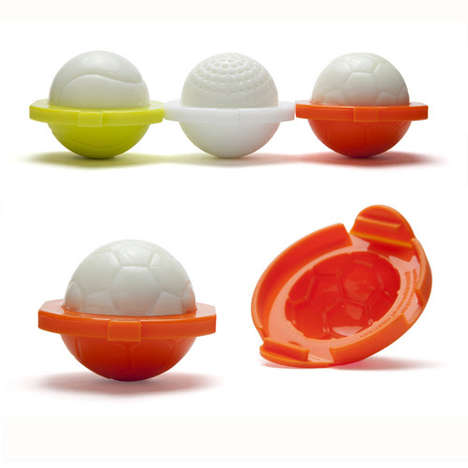 Sporty Egg Shapers - These Fun Molds Modify an Egg Shape to Look Like Sports Equipment