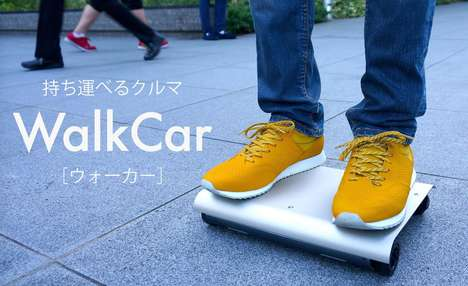 Segway-Mimicking Skateboards - The WalkCar is a Motorized Skateboard That Moves Where Users Lean