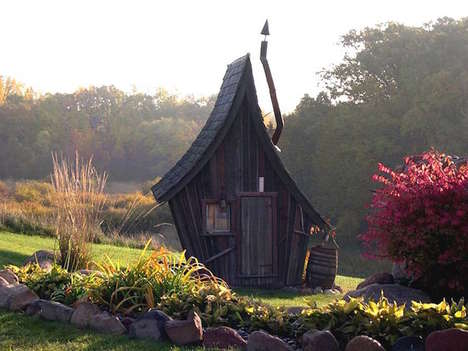 Whimsical Fairytale Cabins - This Distorted Cabin is Reminiscent of Classic Storybook Homes