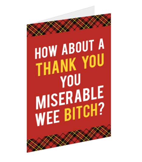 Vulgar Greeting Cards - These Cards Quote Harsh Culinary Phrases Said by Chef Gordon Ramsay