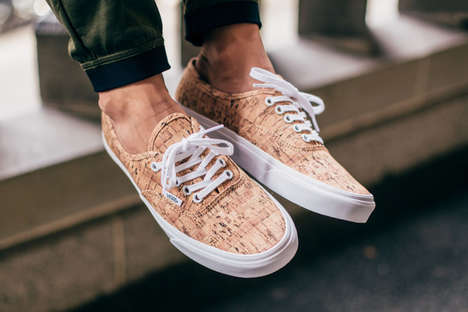 Cork Print Skate Sneakers - The Classic Vans Low Top Gets a Cork Print Makeover