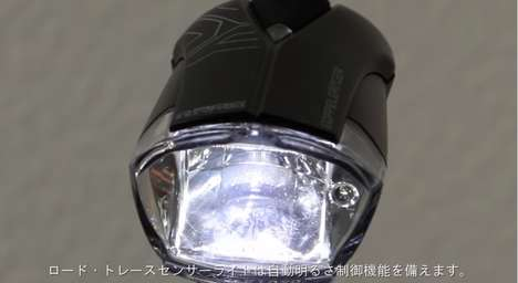 Automatic Adjusting Bike Lights - This Sensor Light Adjusts Beam Intensity to Suit Your Surroundings