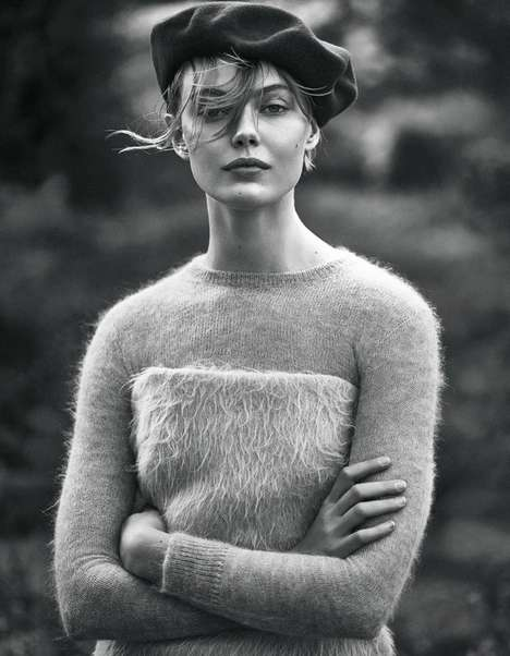 Retro Knitwear Editorials - Elle Sweden's 'Dagdrommare' Image Series Highlights Equestrian Fashions