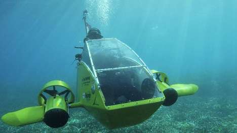 Personal Electric Submarines - The Scubster Nemo Can Travel Underwater at 8 Kilometers Per Hour