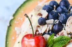 Boozy Smoothie Bowls - The Tropical Banana Rum and Melon Breakfast Bowls Make Mornings More Fun