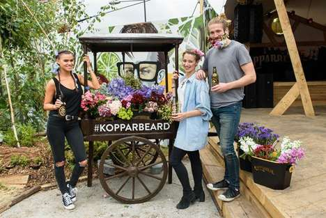 Shrouded Beer Brand Activations - Swedish Cider Brand Kopparberg Hosted a Floral-Infused Event