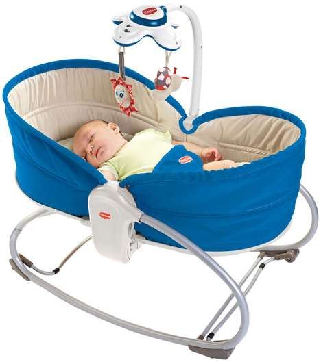 Multi-Functional Baby Rockers - This Portable Baby Crib Doubles as a Seat and Bed Accessory