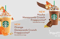 These New Starbucks Beverages are Infused with Honeycomb Pieces