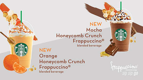 Bee-Inspired Frappuccinos - These New Starbucks Beverages are Infused with Honeycomb Pieces