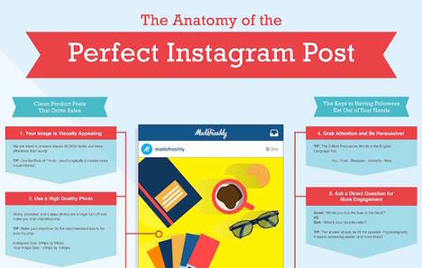 Photo Post-Perfecting Charts - This Infographic Explains How to Have a More Engaging Instagram Post