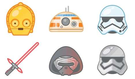 Galactic Emoji Icons - This Emoji Set Honors the New Star Wars Film Release