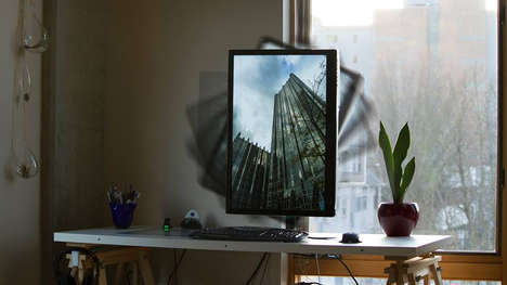 Monitor-Rotating Devices - Focus-Dynamics' 'Rotato' Changes a Screen's Orientation with One Touch