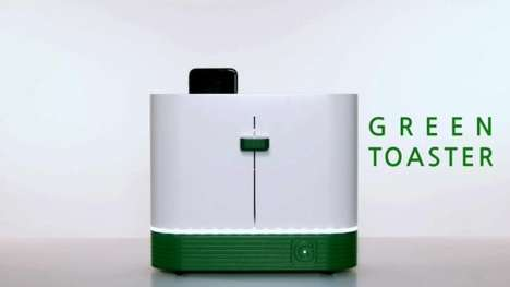 Phone-Sterilizing Toasters - Gmarket's 'Green Toaster' is Used to Clean a Phone with UV Light