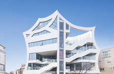 Concave Asian Architecture - This Building Puts a Modern Spin on Traditional Korean Homes