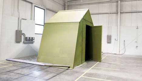 Origami Military Shelters - This Military Shelter Uses Ancient Origami to Save Energy and Space
