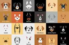 These Illustrations Depict Various Canine Breeds with Simple Imagery