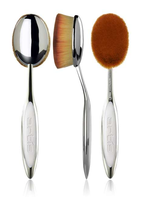 Unconventional Makeup Brushes - Artis' Elite Mirror Collection Reinvents Cosmetic Applicator Shapes