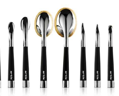 Perpendicular Makeup Brushes