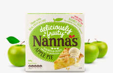 Playful Apple Pie Labels - The Labels for Nanna's Baked Pies Use Cartoon Apples and Cursive Writing