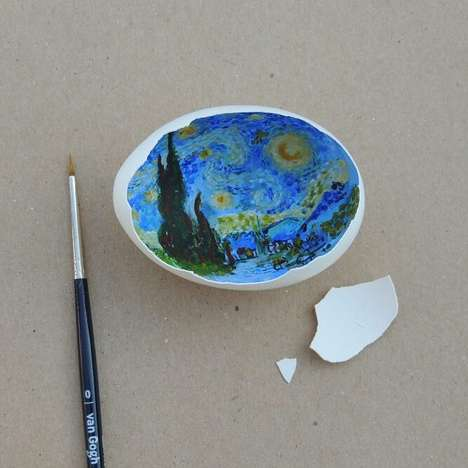 Classical Egg Shell Art - This Artist Turns Everyday Eggs Into Pieces of Classically Themed Art