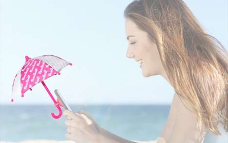 Protective Smartphone Umbrellas - RunaTown's Phone Brella is a Convenient Cell Phone Accessory