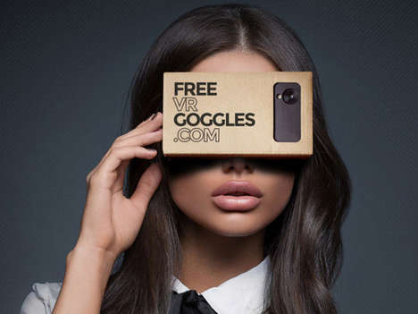 Suggestive VR Campaigns - The 'BaDoinkVR' Adult Site is Giving Out Free Google Cardboard Devices