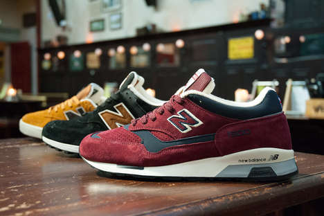 Beer-Inspired Sneakers - This Line of New Balance Footwear Pays Tribute to British Pub Culture