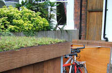 Outdoor Bike Lockers - This Modern Bike Storage Unit Doubles as an Urban Green Planting Space