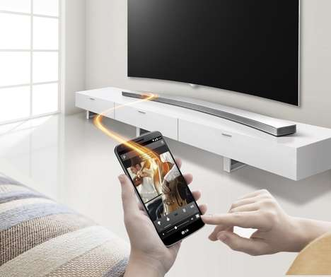 Curved Audio Systems - The Curved 'LG Music Flow Hs8' Sound Bar Will Match Your Curved TV