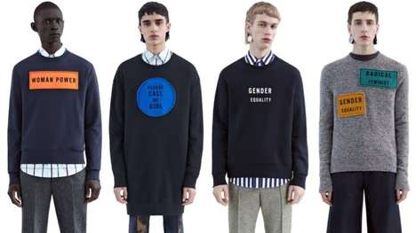 Feminist Advocacy Menswear - The Fall Fashion Line from Acne Studios Displays Bold Feminist Quotes