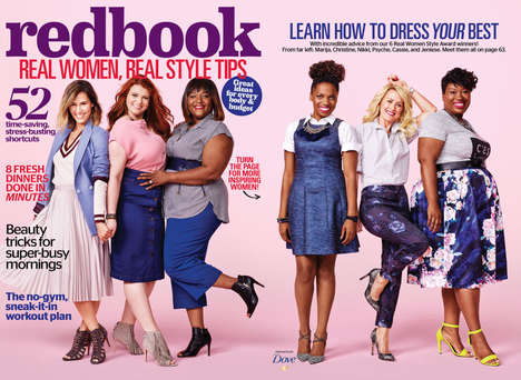 Non-Model Magazine Covers - The Latest Issue of 'Redbook' Features Everyday Women on the Cover