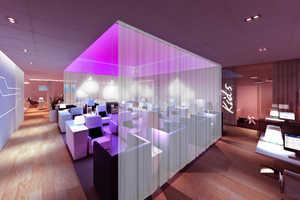 The Finnair Lounge at Helsinki Airport Boasts a Unisex Finnish Sauna