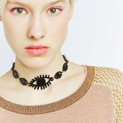 Ocular Choker Necklaces - The 'All Eyes on Me' Choker Provides an Added Fashion Vision