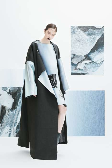 Topographic Urban Attire - Haoran Li's 'Dyes of Shadow' Collection References Natural Textures
