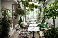 Residential Restaurant Decor - Bourne &Hollingsworth's Interior Resembles a Traditional Living Room