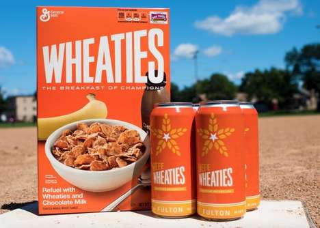 Cereal-Inspired Wheat Beers - This Craft Brewery Beer is Branded with the Iconic Wheaties Logo