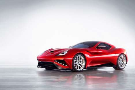 Slick Titanium Supercars - The Icona Vulcano is Proudly Touted as the World's First Titanium Car