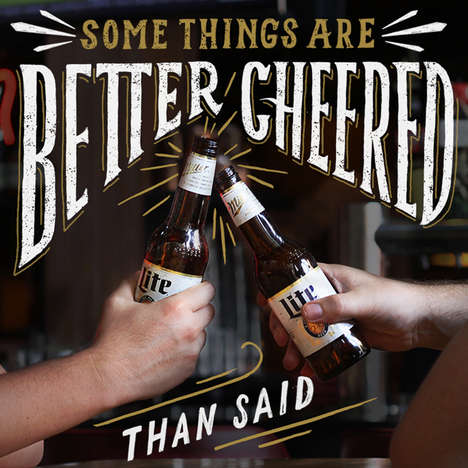 Millennial-Targeted Typography Ads - This Miller Lite Campaign Targets Young Males Via Instagram