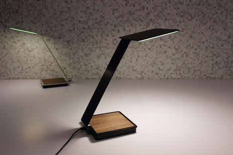 Longlasting Charging Lamps - The OLED Desk Lamp Wirelessly Charges Phones for 18 Long Years