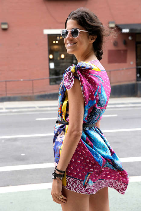 Upcycled Scarf Dresses - This Project for Lazy Fashionistas Turns Old Scarves into Homemade Dresses