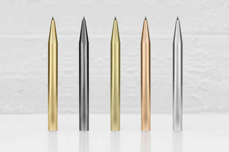 Luxurious Metal Pens - These Metal Ballpoint Pens Come in Rare Elemental Finishes