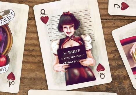 Fairy Tale Playing Cards - This 'Once Upon a Time' Deck of Cards Features Modernized Characters
