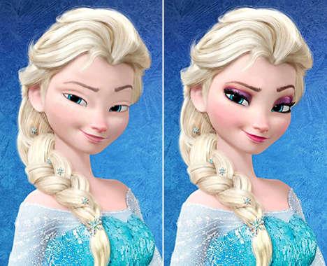 Makeup-Free Disney Princesses