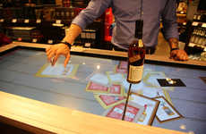 Touchscreen Sampling Bars - Beam Suntory's Interactive Booth Offers Bourbon Tasting at the Airport